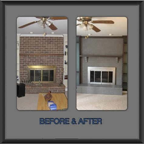 How To Paint An Old Brick Fireplace by Our Quot New Quot Painted Brick Fireplace And Screen