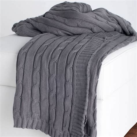 cable knit throw district17 gray cable knit throw blanket throw blankets
