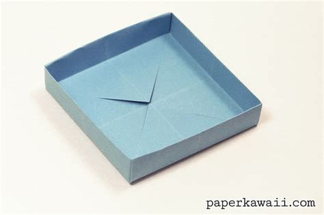 fold origami box shallow origami box 183 how to fold an origami box