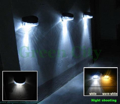 solar balcony lights 10pcs upgrade 2 leds solar fence wall light balcony