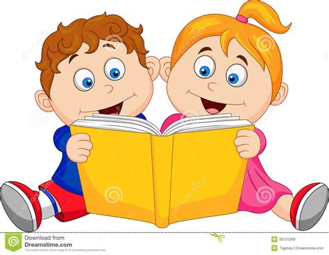 picture of reading books children reading a book stock vector image of education