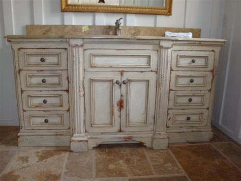 Distressed White Bathroom Cabinets bathroom large white distressed bathroom vanity with sink