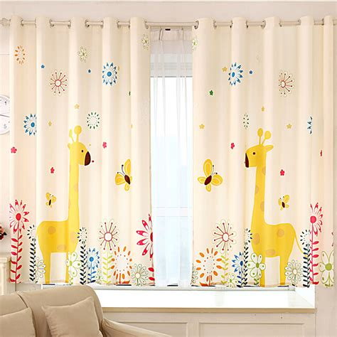 curtains baby nursery fancy giraffe yellow poly cotton nursery curtains