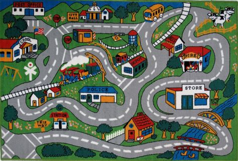 play rug with roads 7 best images of printable roads for cars car