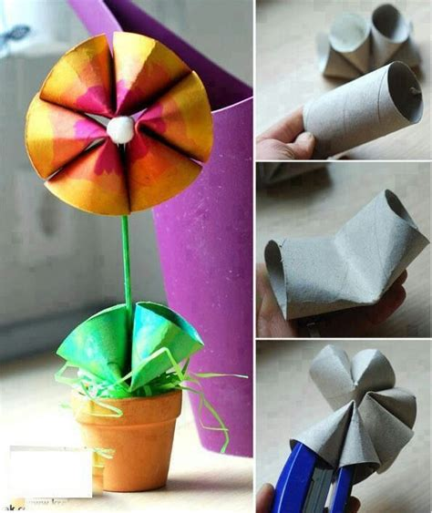 toilet paper roll flowers craft toilet paper roll flower craft ones
