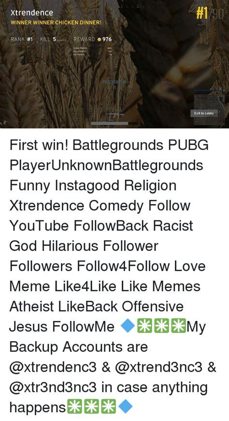 pubg hit points 25 best memes about winner chicken dinner winner