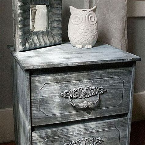 chalk paint finishes weathered nightstand using americana decor chalky finish