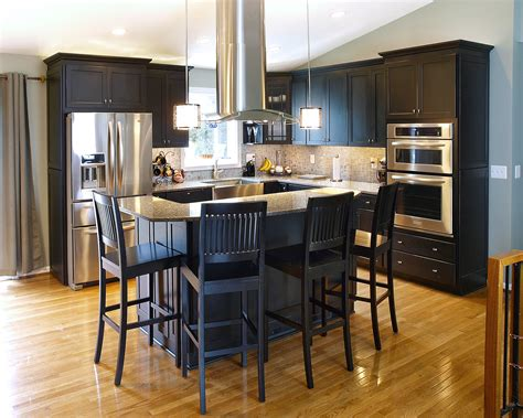 eat in island kitchen eat in kitchens islands bel air construction maryland baltimore remodeling
