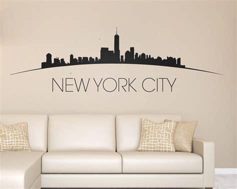new york skyline wall sticker new york city skyline wall decal new york by urbanartworkstore