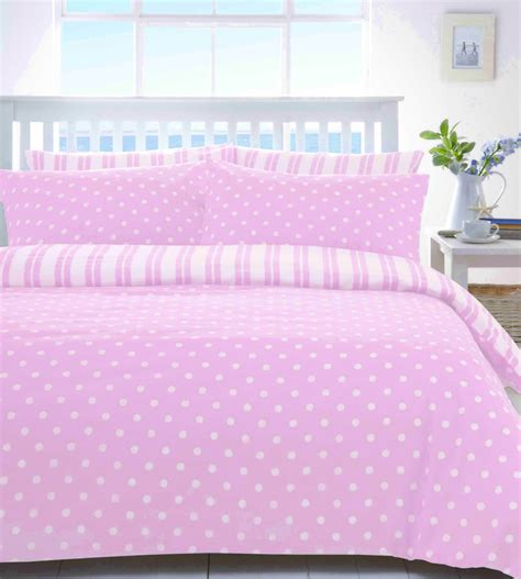 pink and white comforter set pink white spot or stripe quilt duvet bedding