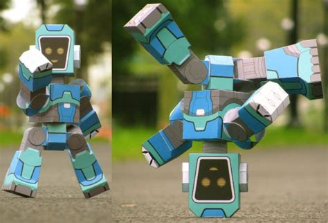 paper craft robot poseable robot paper