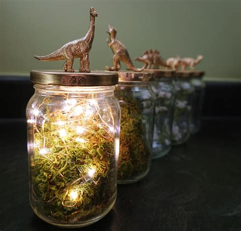diy wedding centerpieces with jars dinosaur jar upcycling turned diy wedding centerpieces