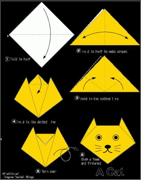 how to make an easy origami cat easy origami for cat teaching