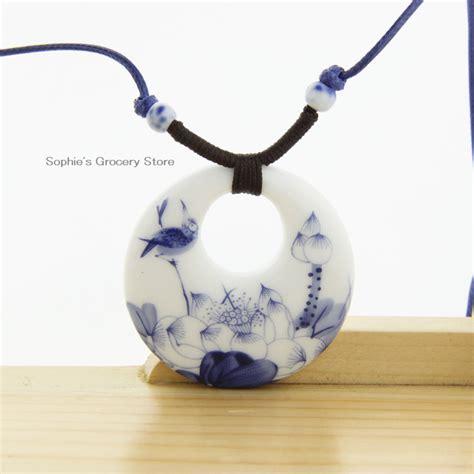 accessories wholesale ceramic necklace pendants jingdezhen 2014 fashion vintage
