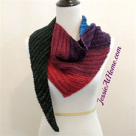 triangle scarf pattern knitting free summer s end triangle scarf allfreeknitting