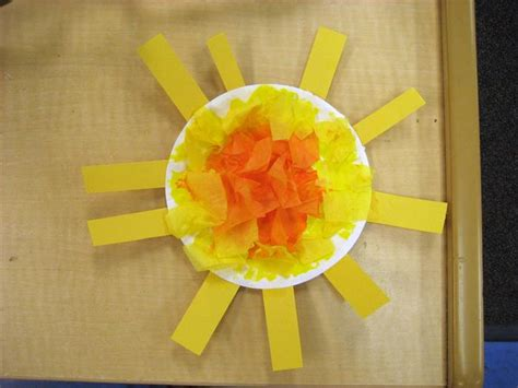 paper plate sun craft paper plate sun craft for