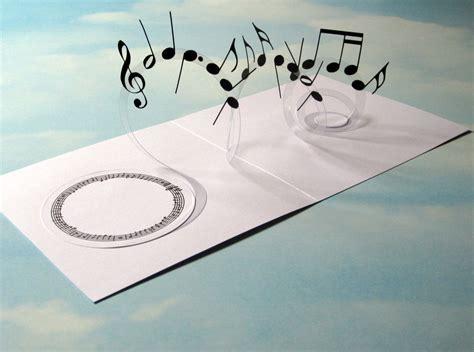 how to make a musical card card spiral pop up musical notes 3d card handmade