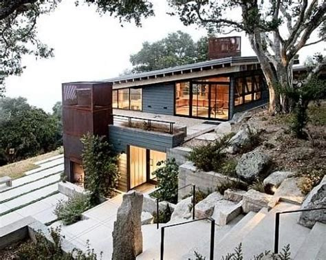 steep hillside house plans 17 best images about steep slope house plans on green roofs house plans and modern