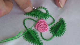 how to do embroidery with embroidery leaf stitch