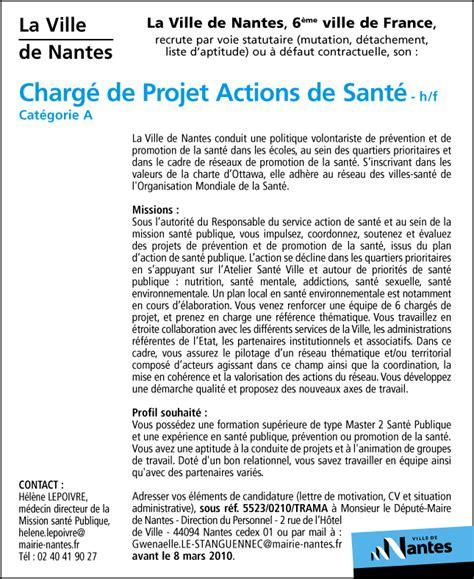 charg 233 de projet actions de sant 233 h f talents fr