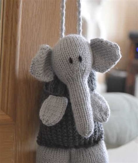 knitted elephant free pattern elephant baggles gift bag knitting by post