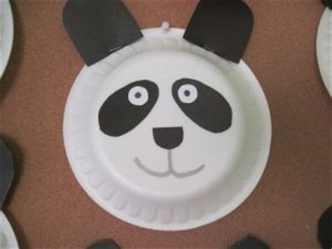 panda paper plate craft panda craft idea for preschoolers preschool crafts and