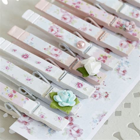 www decoupage decoupage clothes pegs with pretty floral paper