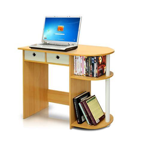 computer desk beech llytech inc go green beech computer desk with bin drawer