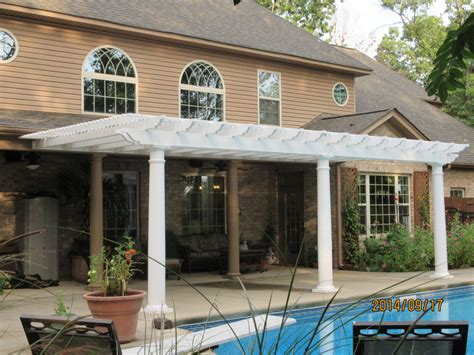 vinyl pergola kit low maintenance vinyl pergola kit poolside south carolina