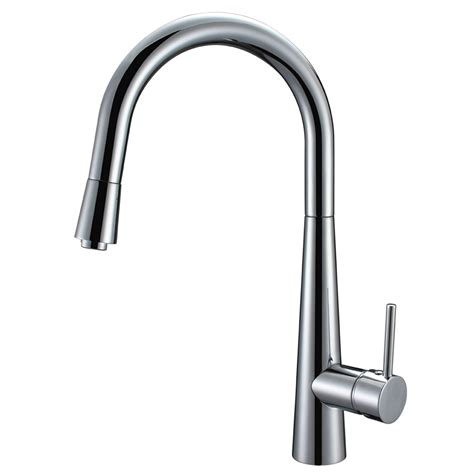 tap kitchen faucet enki modern kitchen sink pull out spray mixer tap faucet brushed steel black ebay