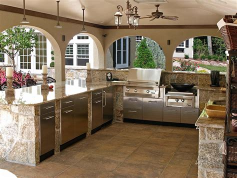 awesome kitchen designs awesome outdoor kitchen designs and ideas corner