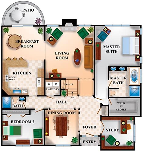 blueprints for houses free house floor plans in color home deco plans