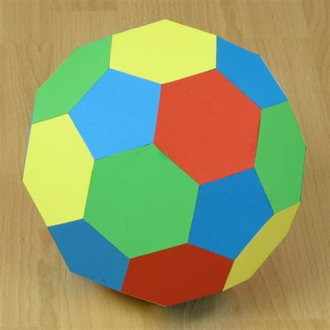 3d origami football paper truncated icosahedron soccer or football