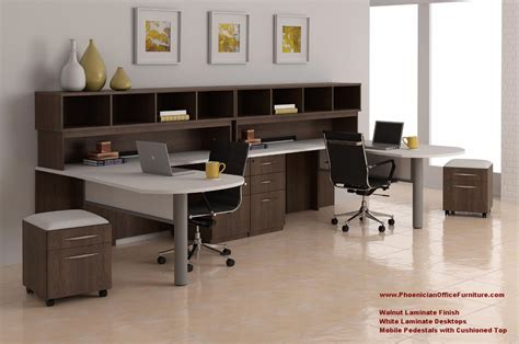 2 person l shaped desk 2 person l shaped desk and hutch set with mobile file