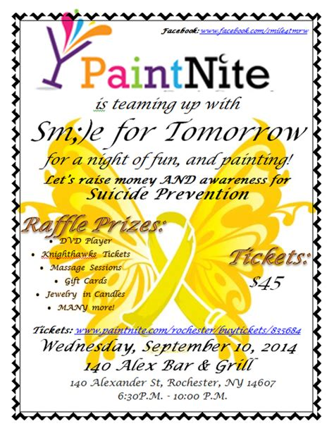 paint nite fundraiser smile for tomorrow