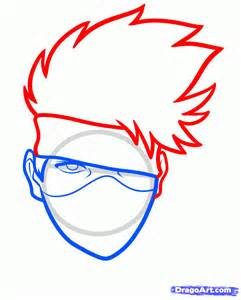 easy to draw how to draw kakashi easy step by step characters
