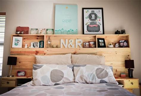 diy headboards with shelves diy pallet headboard with shelves