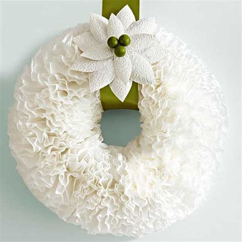 paper craft decoration wreaths with coffee filters creative crafts for
