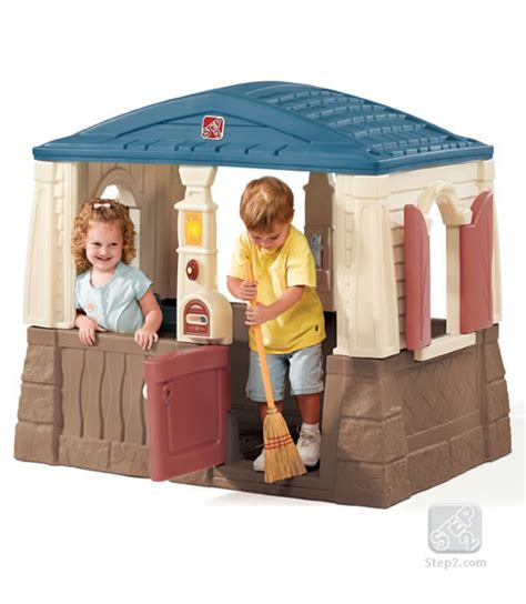step2 naturally playful neat and tidy cottage cool and affordable play houses