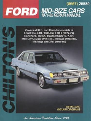 chilton car manuals free download 1985 ford thunderbird parental controls chilton ford mercury mid size cars 1971 1985 repair manual