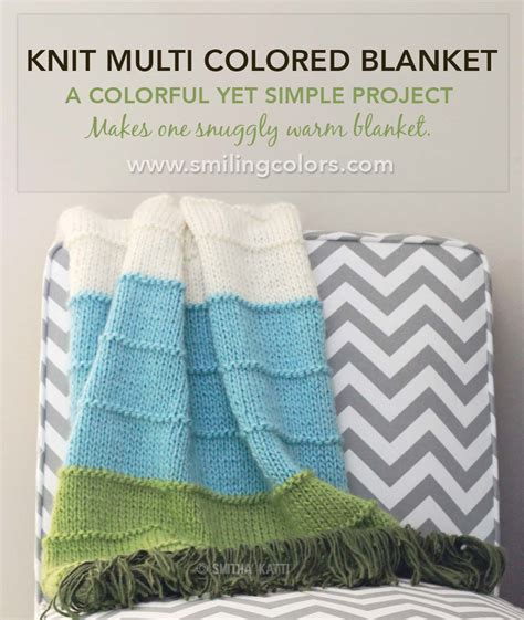 multi colored afghan knitting pattern knit multi colored blanket smitha katti
