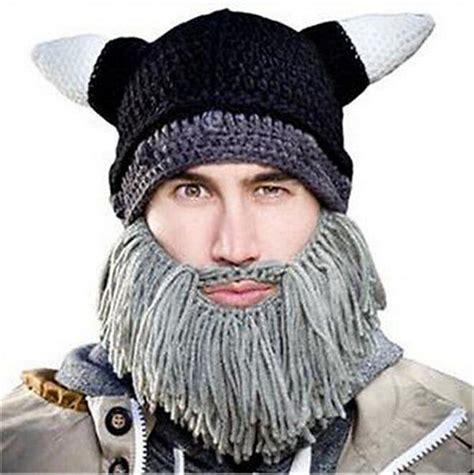 knitted beard hats 1 pcs children winter warm handmade knit viking hat