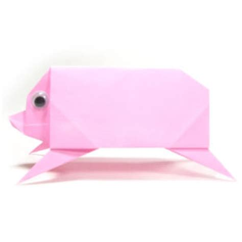 simple origami pig how to make a simple origami pig page 1