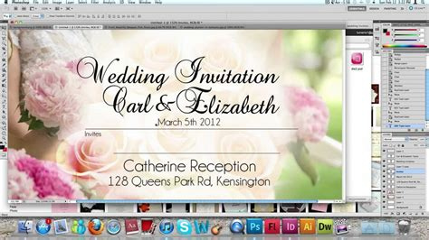 how to make invitation card how to make a wedding invitation card usng photoshop