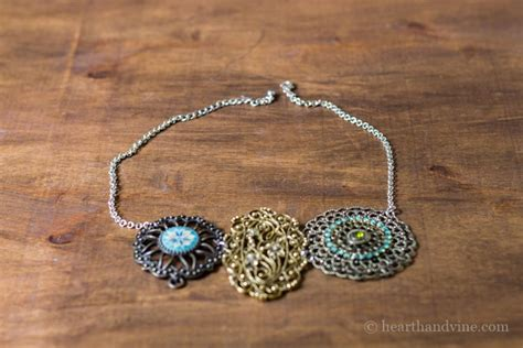make a statement jewelry make your own statement necklace from vintage jewelry