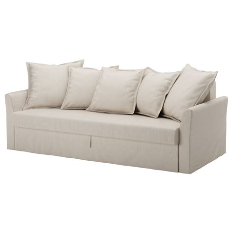 three seat sofa bed holmsund three seat sofa bed nordvalla beige ikea
