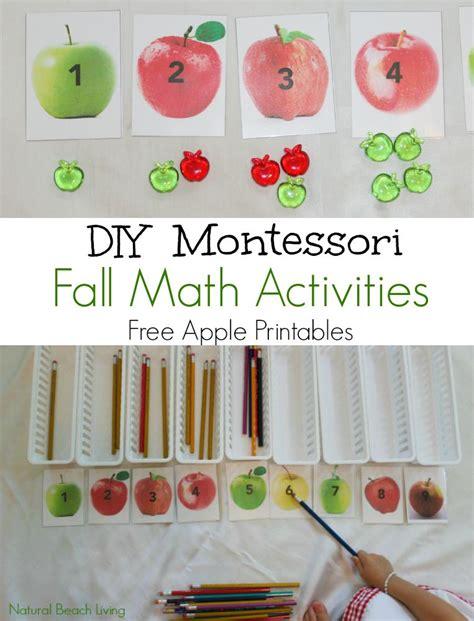 montessori math diy fall montessori math activities free printables