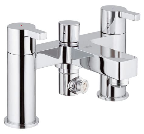grohe bath shower mixer taps grohe lineare half inch deck mounted bath shower mixer tap