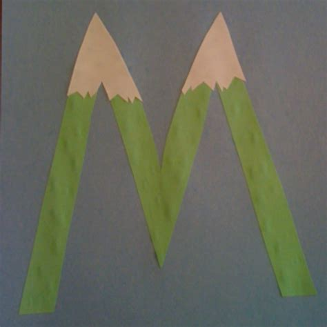 mountain crafts for 17 best images about letter of the week quot m quot on