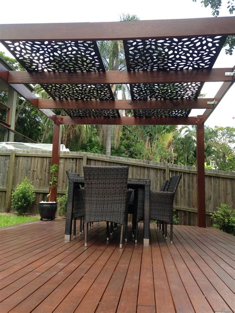 pergola with a roof decorative screening on pergola roof privacy screens